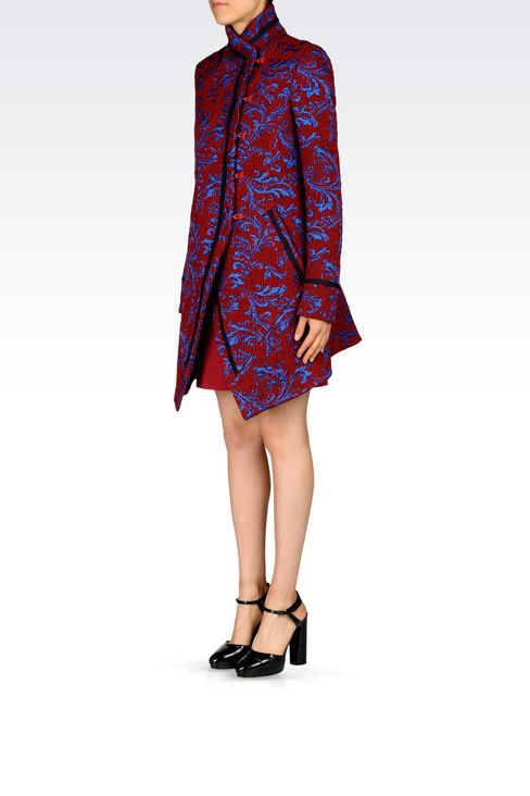 DAMASK RUNWAY COAT: Single-breasted coats Women by Armani - 3