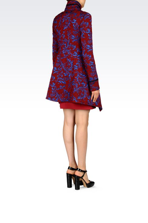 DAMASK RUNWAY COAT: Single-breasted coats Women by Armani - 4