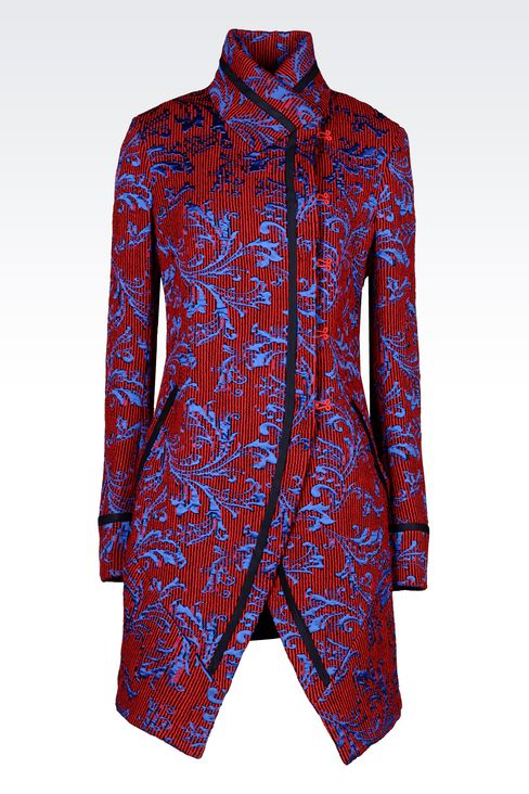 DAMASK RUNWAY COAT: Single-breasted coats Women by Armani - 1