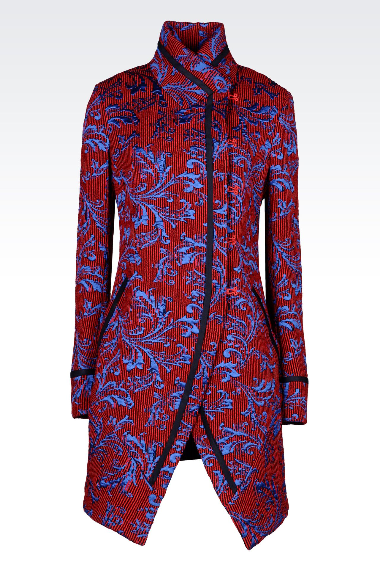DAMASK RUNWAY COAT: Single-breasted coats Women by Armani - 0