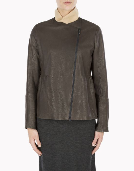 BRUNELLO CUCINELLI MPMUP2610P Leather outerwear D f