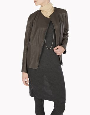 BRUNELLO CUCINELLI MPMUP2610P Leather outerwear D e