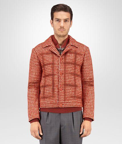 落叶红和云雾白 PIED DE POULE 羊毛外套