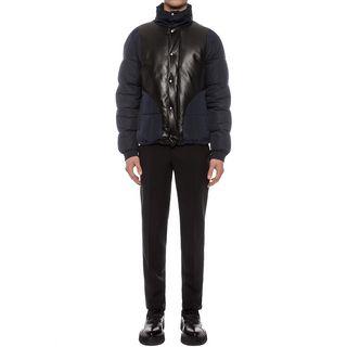 ALEXANDER MCQUEEN, Bomber Jacket, Leather Detail Puffer Jacket