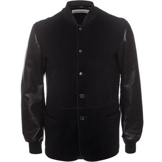 ALEXANDER MCQUEEN, Leather, Leather and Felt Jacket