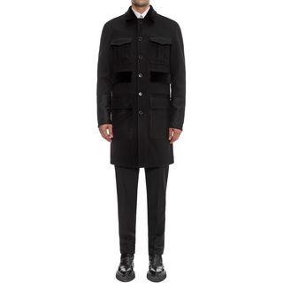 ALEXANDER MCQUEEN, Coat, Contrasting Patch Pocket Coat