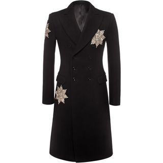 ALEXANDER MCQUEEN, Coat, Double Breasted Medal Embroidered Coat