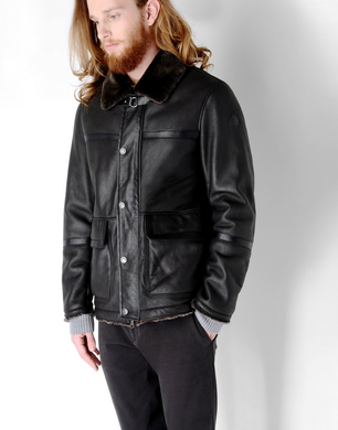 TRU TRUSSARDI - Leather jacket