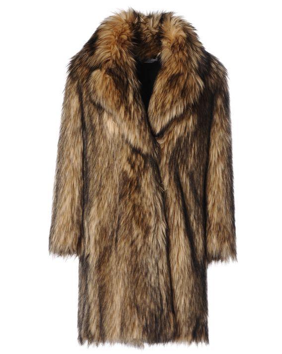 REDValentino Пальто из волчьего экомеха
