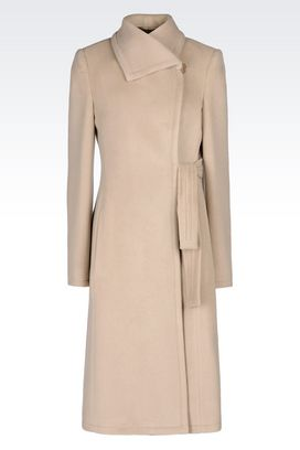 Armani Single-breasted coats Women cashmere coat