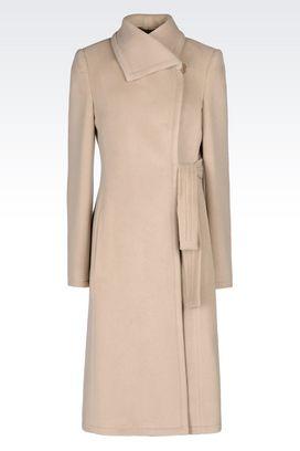 Armani Cappotti Monopetto Donna cappotto in cashmere
