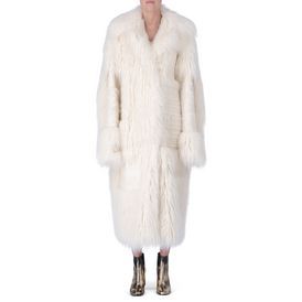 STELLA McCARTNEY, Long, Manteau Nyla Fur Free Fur ivoire
