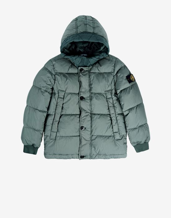 Down jacket 40433 GARMENT DYED CRINKLE REPS DOWN STONE ISLAND JUNIOR - 0