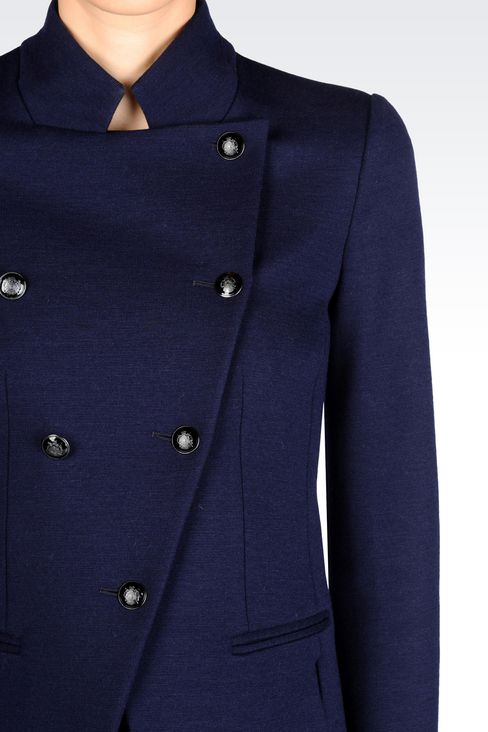 DOUBLE-BREASTED JACKET IN WOOL BLEND: Double-breasted jackets Women by Armani - 4