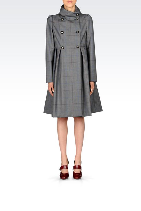 Coats: Double-breasted coats Women by Armani - 2