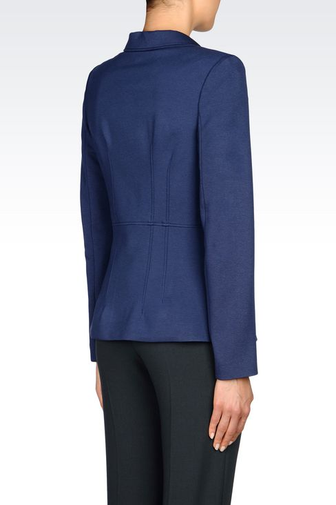 JACKET IN MILANO RIB: One button jackets Women by Armani - 3
