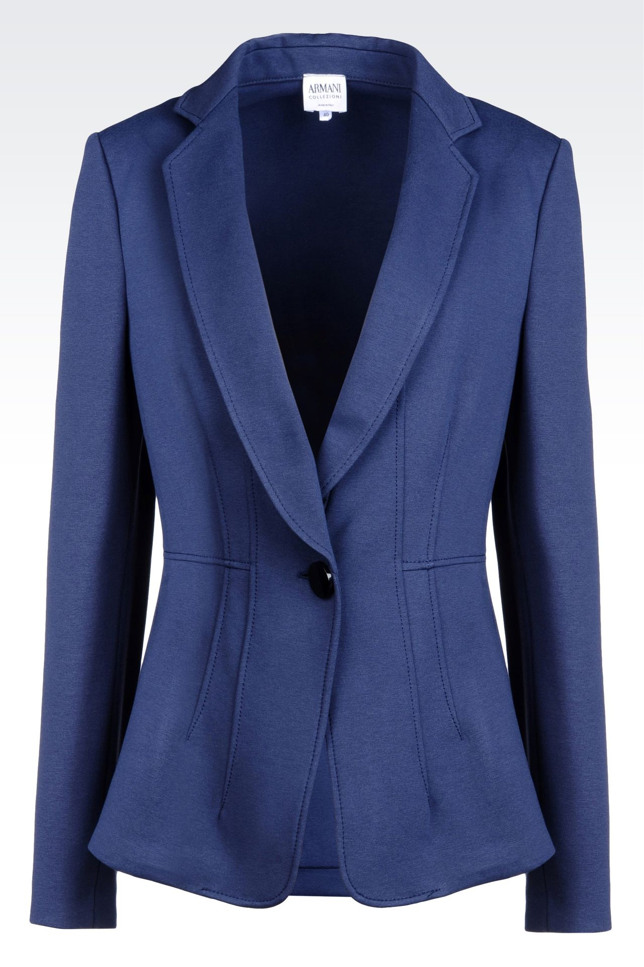 JACKET IN MILANO RIB: One button jackets Women by Armani - 0