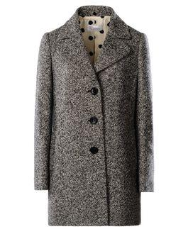 REDValentino Waxed tweed coat