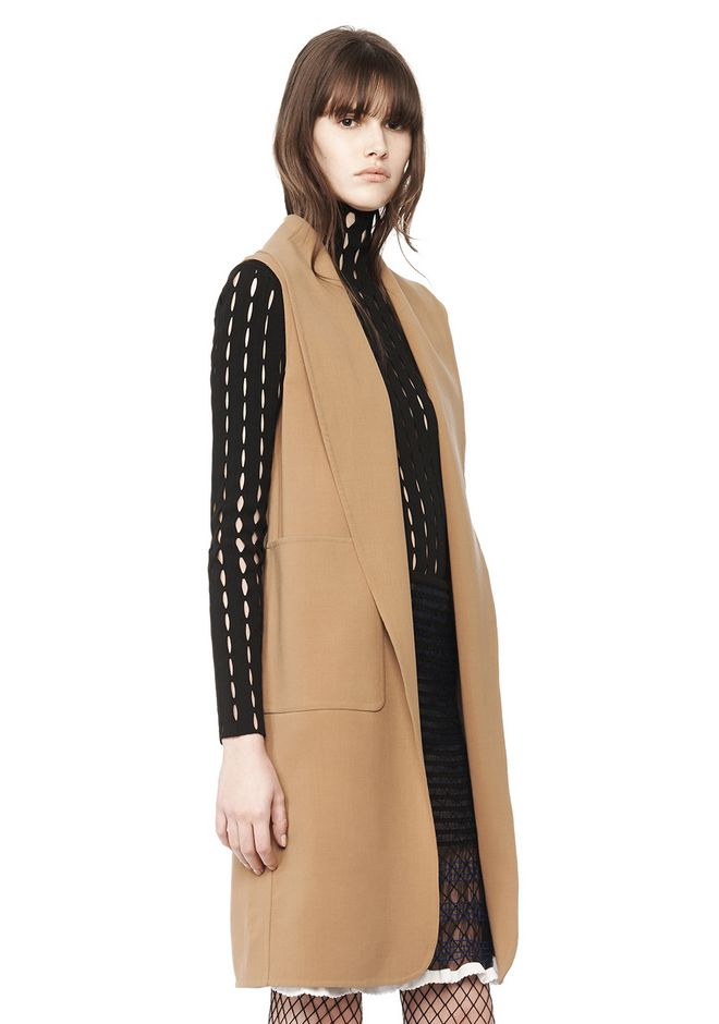 ALEXANDER WANG JACKETS AND OUTERWEAR  Women OVERSIZED LONG VEST