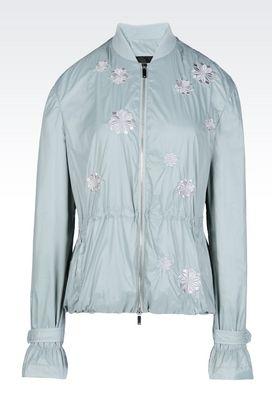 Armani Dust jackets Women blouson in technical fabric