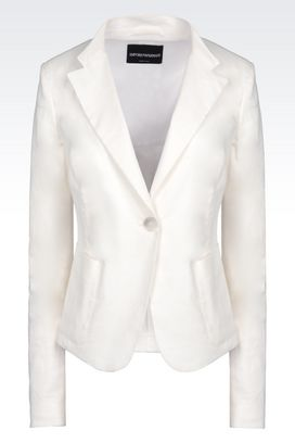 Armani One button jackets Women jacket in stretch linen