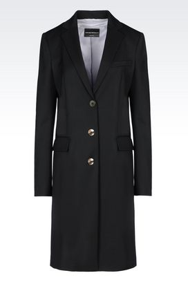 Armani Single-breasted coats Women coat in stretch wool
