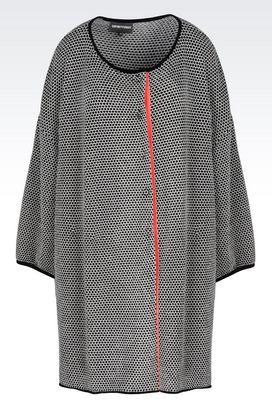 Armani Manteaux à un bouton Femme manteau en tissu chenille