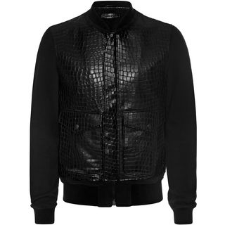 ALEXANDER MCQUEEN, Leather, Embossed Leather Jacket