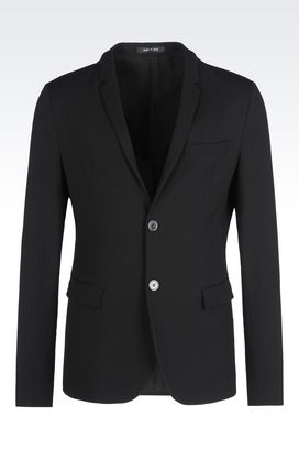 Armani Two buttons jackets Men jacket in stretch wool