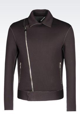 Armani Bomber jackets Men neoprene blouson