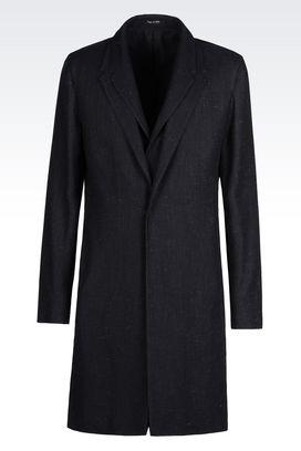 Armani Manteaux à un bouton Homme manteau effet denim