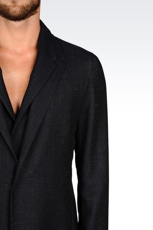 DENIM EFFECT COAT: Single-breasted coats Men by Armani - 5