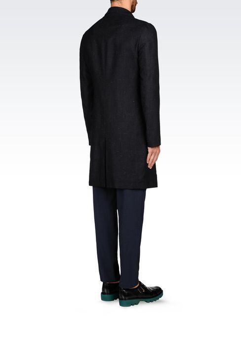 DENIM EFFECT COAT: Single-breasted coats Men by Armani - 4