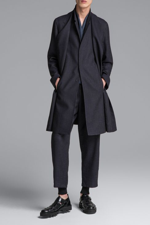DENIM EFFECT COAT: Single-breasted coats Men by Armani - 2