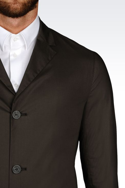 COTTON JACKET: Three buttons jackets Men by Armani - 4