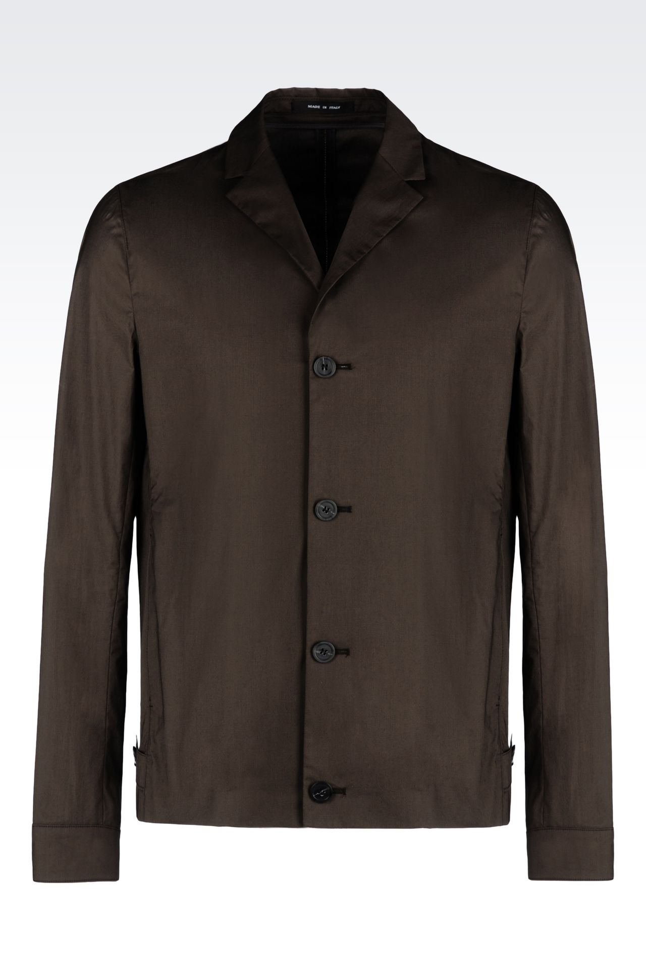 COTTON JACKET: Three buttons jackets Men by Armani - 0