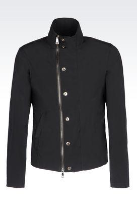 Armani Bomber jackets Men blouson in technical fabric