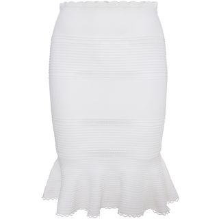 ALEXANDER MCQUEEN, Skirt, Peplum Sangallo Ruffle Knit Skirt