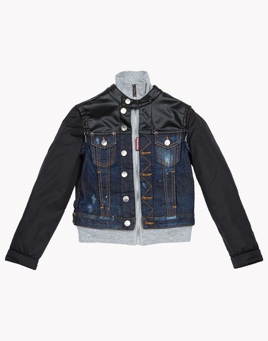 jacket blouson gar on junior boutique en ligne officielle dsquared2. Black Bedroom Furniture Sets. Home Design Ideas