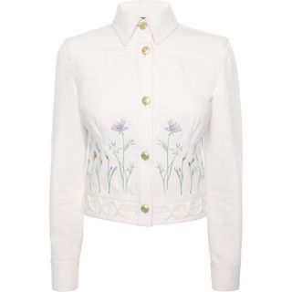 ALEXANDER MCQUEEN, Jacket, Embroidered Denim Jacket