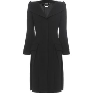 ALEXANDER MCQUEEN, Coat, Pleated Open Neck Coat