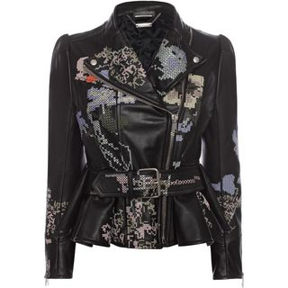 ALEXANDER MCQUEEN, Jacket, Cross Stitch Leather Jacket