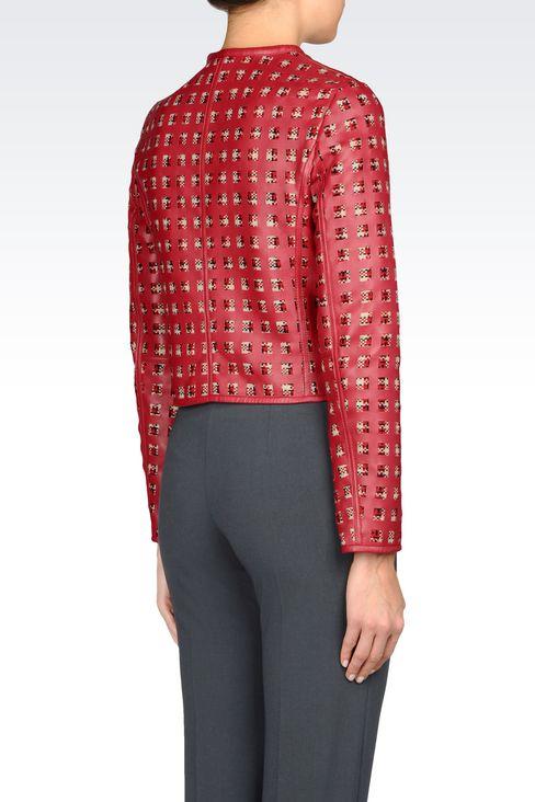 LAMBSKIN JACKET: Dinner jackets Women by Armani - 3