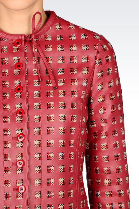 LAMBSKIN JACKET: Dinner jackets Women by Armani - 4