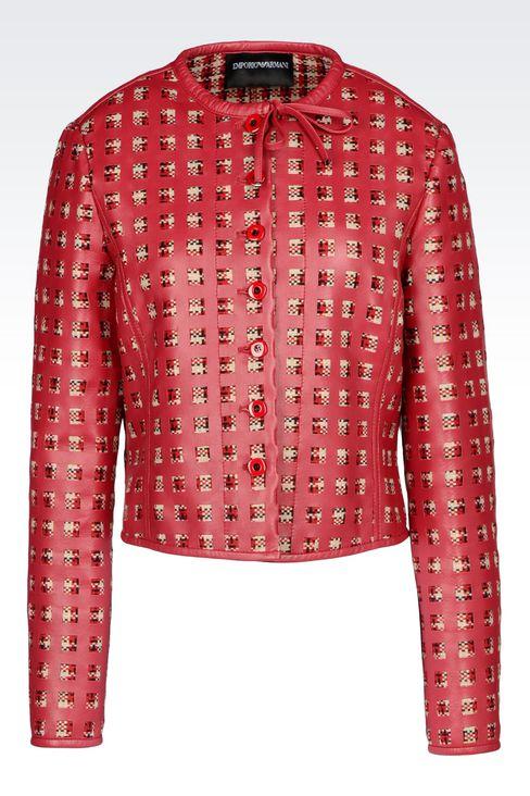 LAMBSKIN JACKET: Dinner jackets Women by Armani - 1