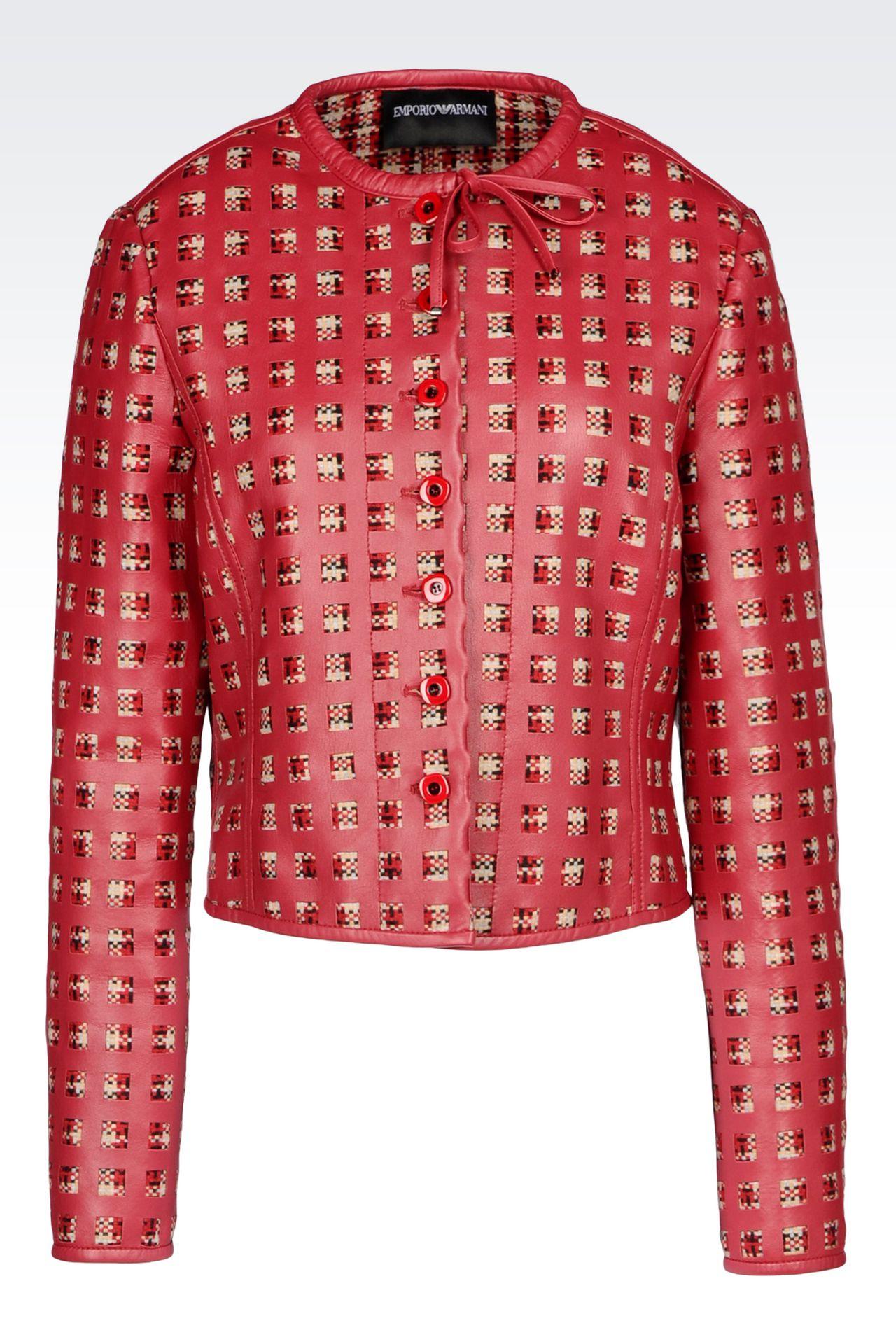LAMBSKIN JACKET: Dinner jackets Women by Armani - 0