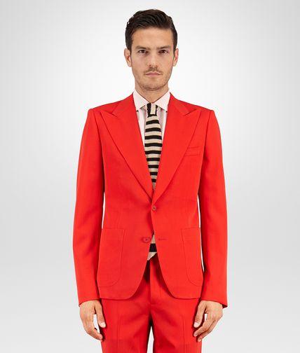 熔岩红羊毛华达呢外套