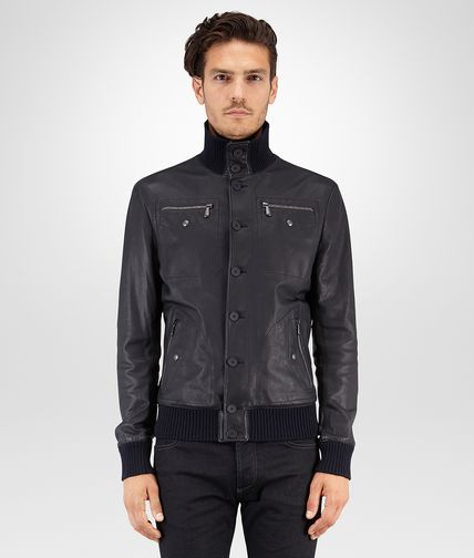BLOUSON IN DARK NAVY LAMBSKIN