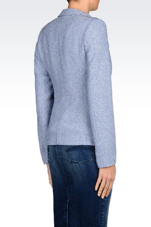 JACKET IN BOUCLÉ: Two buttons jackets Women by Armani - 3