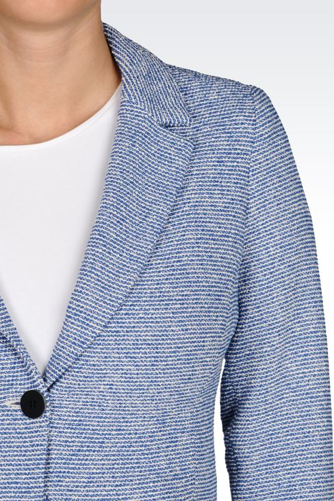 JACKET IN BOUCLÉ: Two buttons jackets Women by Armani - 4